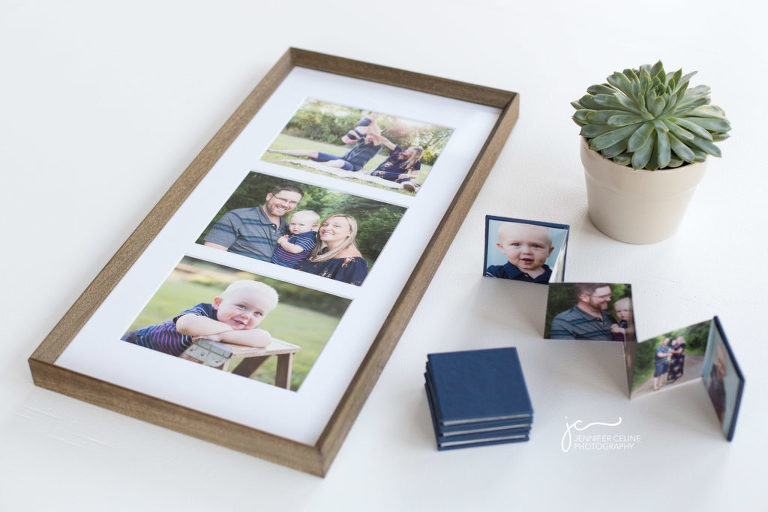 modern family children photography wood-framed fine art prints, mini albums