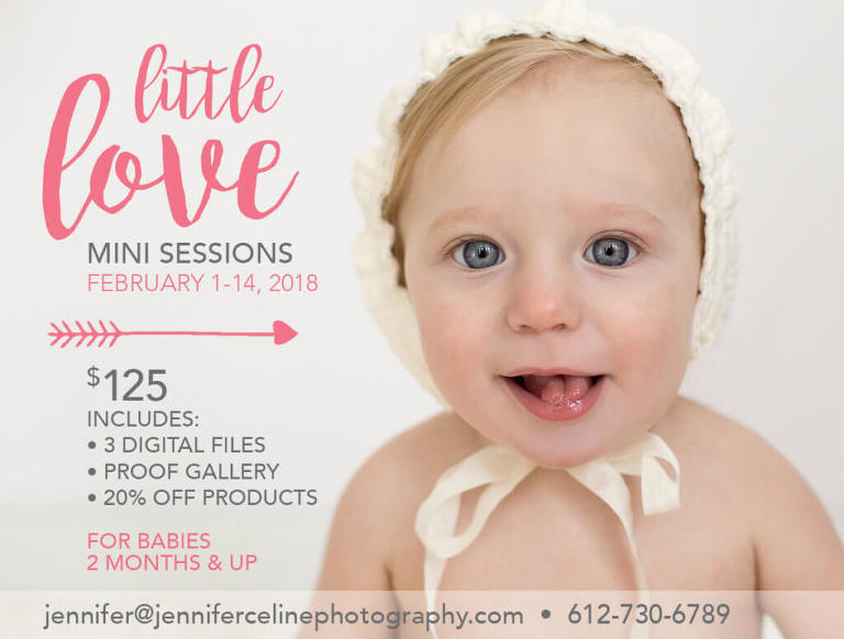9 month old smiling, happy baby girl in lace bonnet, little love valentine mini session