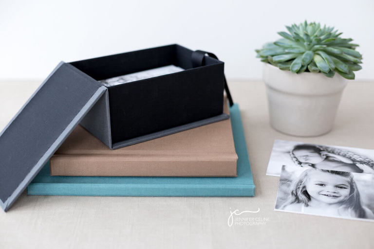 modern photography keepsake storage box for newborn, children and family photographs