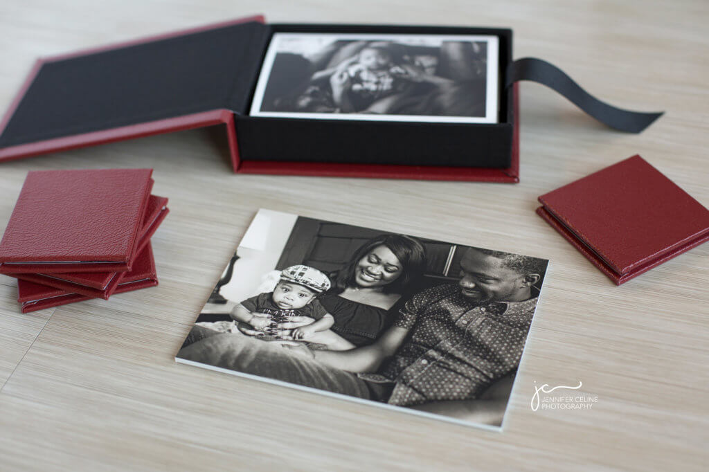 Photos displayed as art. Keepsake box, fine art print, mini albums.